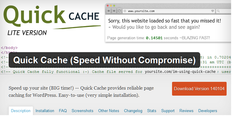 Cache for speed increases