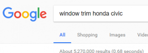 Google search text: window trim honda civic