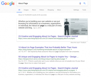 "Search results ""About Page"""