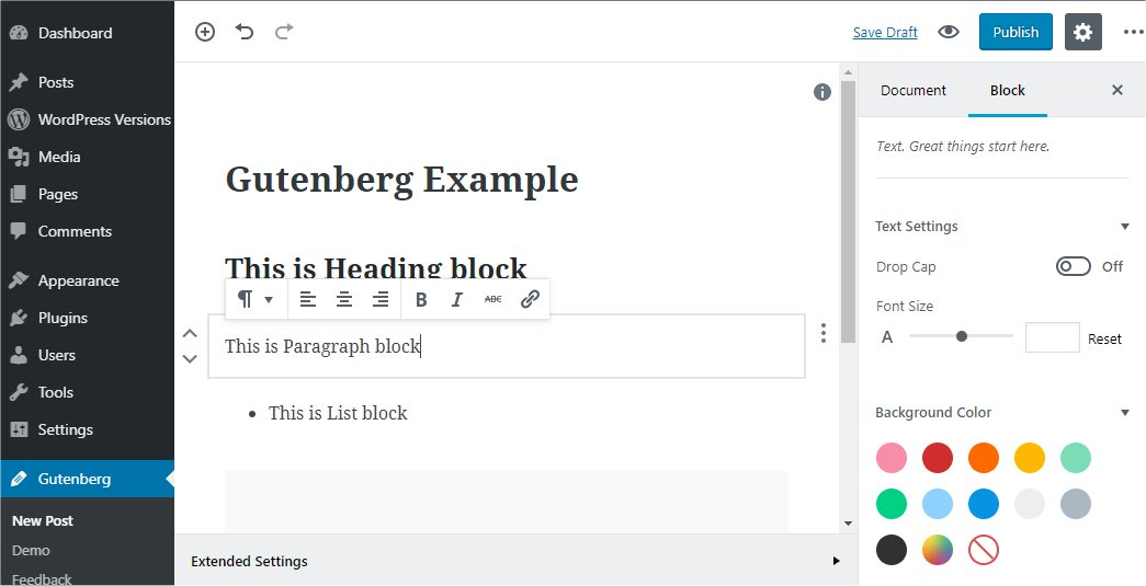 Gutenberg editor - Codex.wordpress.org