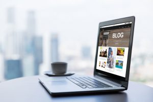 Websites - Laptop featuring a 'blog'